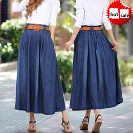Plus Size Long Denim Skirt Online   Plus Size Long Denim Pencil ...