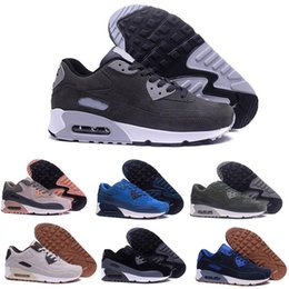 2017 shoes run air max High Quality New suede Air Running Shoes Men Women Maxes 90 Sneakers Cheap Sports Shoe