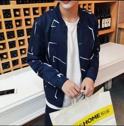 New Fashion Brand Jacket Men Trend Patchwork Korean Slim Fit Mens Designer Clothes Cotoon Men Casual Jacket Slim Korean Designer Clothing Mens For Sale