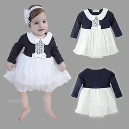 2017 baby 3pcs romper Free Shipping 2017 new Baby girls rompers girl long-sleeved one-piece romper kids Skirts 100% cotton 3pcs lot cheap baby 3pcs romper