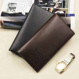 2017 mens long clutch bags leather Fashion Vintage PU Mens Leather Long Famous Brand Wallets Leather Business Card Holders Designer Luxury Wallet Men Clutch Gift Bag Z505 cheap mens long clutch bags leather