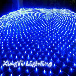 Wholesale 3m X2m 210 Led Fairy String Xmas Tree Mesh Curtain Ceiling House Window Wall Net Light Festival Christmas Holiday Decoration