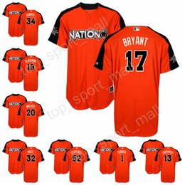 2017 baseball orange mlb all star jerseys national league 20 daniel murphy 11 ryan zimmerman 12