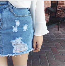 Discount White Denim Jeans Skirt | 2017 White Denim Jeans Skirt on ...