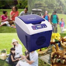 Акция в США! 8L Миниый портативный холодильник автомобиля SOAC CR-081-G компактный охладитель / подогреватель холодильника путешествия автомобиля 12V освобождает перевозку груза