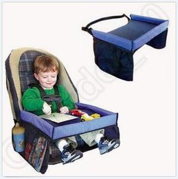 Baby Car Waterproof Safety Seat Snack Play N Travel Tray Kid Lap Board Table Pushchair Snack Tray LJJC5213 50pcs cheap baby travelling from baby travelling suppliers