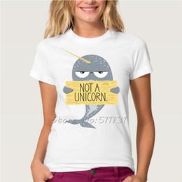 Wholesale Grossiste mignon mignon pas un T shirt imprimé licorne Femmes d été Cartoon Unicorn manches courtes Tee Top Vêtements Plus Size XXL