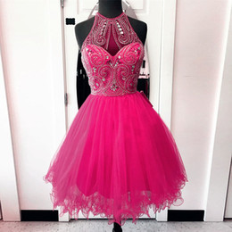 Discount Short Pink Fluffy Prom Dresses | 2017 Short Pink Fluffy ...