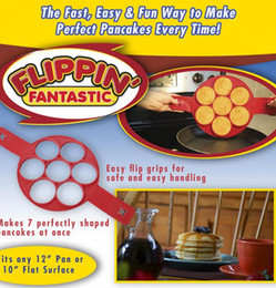 Flippin Fantástico Fast Easy Way para fazer panquecas perfeitas Egg Ring Maker Nonstick Panqueca Maker Mold cozinha cozimento moldes 100pcs KKA1422