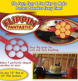 Flippin Fantastic Fast Easy Way para hacer panqueques perfectos Huevo Anillo Fabricante Nonstick Panqueque Fabricante Molde Cocina Panadería Moldes 100pcs KKA1422