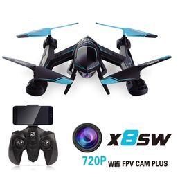 2017 nouvelle caméra X8SW Drones 720P FPV RC Quadcopter hélicoptère 2.4G 4CH 6-Axis RC hélicoptères Drones