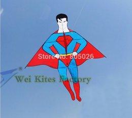 Haute qualité nouveau style 2m superman kite grand cerf-volant avec la poignée de la ligne enfant amour jouets extérieurs wei cerfs-volants