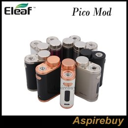 Nouveau Eleaf iStick Pico 75W TC Mod Modules interchangeables 18650 TC-SS et TCR Modes minuscules Firmware Upgradeable Pico Mod 100% Original Free DHL