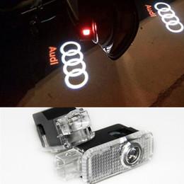 online shopping 2 Laser LED Door Courtesy projector Shadow Light For AUDI A1 A3 A4 B6 B8 A6 C5 A7 Q3 Q5 Q7 TT Sline C6 B5 B7