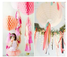 Discount Wedding House Car Decoration Wedding Decoration 5pcs Tissue Paper Tassels Garland Ribbon Balloons Birthday Curtain