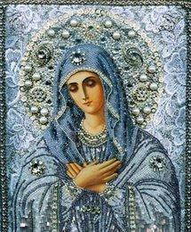 5D Diy Алмазная живопись Религия Saint Maria 5D Алмазная мозаика Icon Рукоделие Рукоделие Вышивка Крестиком