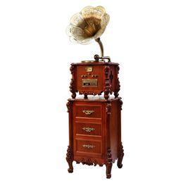 Antique Loudspeaker Phonograph Black Music Player Retro Classic Record Machine Home Elegant Furnishings Low Key Luxury Sounds Of Nature Jew