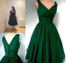 Discount Emerald Green Vintage Cocktail Dress  2017 Emerald Green ...