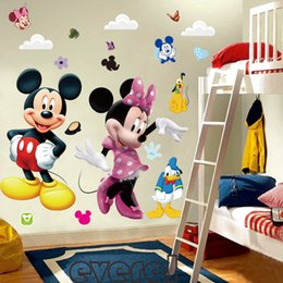 Wholesale 3d Cartoon Mickey And Minnie Mouse Wall Stickers Kids Baby Nursery Bedroom Decals Home Decor The Little Prince Kids Gift