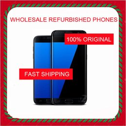 Discount chinese phone screens WHOLESALE Original S7 refurbished unlocked cell phones G930A G930T G930P G930V G930F Unlocked Phone Octa Core 4GB 32GB 5.1 Inch Android 6.0