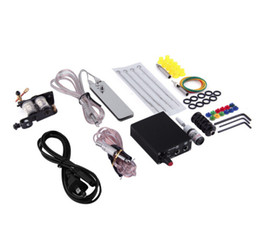 2017 cord tools 2017 New 1Set 90-264V Complete Equipment Tattoo Machine Gun Inks Power Supply Cord Kit Body Beauty Tools Drop Shipping Wholesale cheap cord tools