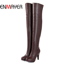 Discount Long Leather Boots For Women   2017 Long Leather Boots