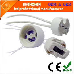 online shopping GU10 spotlights cup ceramic lamp holder MR16 MR11 gu5 g4 g9 gu10 connector cable G5 G9 GU10 with cable