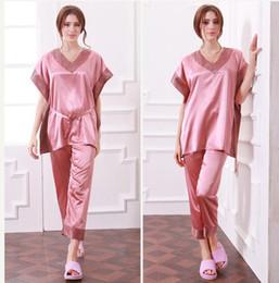 Women Silk Two Piece Pajamas Online | Women Silk Two Piece Pajamas ...