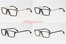 online optical op29  2017 Fashion Sunglasses For Mens Womens Optical Metal Gold Silver Frames  Buffalo Horn Glasses Brand Designer Vintage Eye glasses Clear Lens