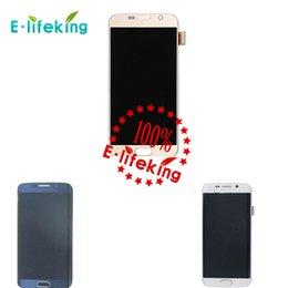 Excellent prix de gros de qualité pour le blanc blanc bleu d'or de l'écran de Displaiy de numériseur de Lcd de la galaxie S6 de Samsung Livraison gratuite de DHL