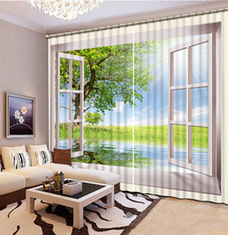 Fashion 3D Home Decor Beautiful High Quality Customize size Modern window nature scenery custom curtain