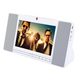 Discount multimedia panel S01 Smart Bluetooth Speaker Flat Panel Radio Video Connection Calls wifi Touch Multimedia One Video Machine Portable Subwoofer