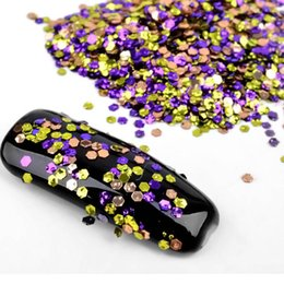 Wholesale Mini Hexágono Nail Flakes Thin Sequins Flake Colorido Encanto Nail Art Glitter Consejos d DIY Manicura Decoraciones Nails Beauty