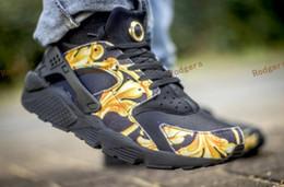 designer football boots 7ofq  2017 Air Huarache Running Shoes Black Huaraches trainers Men&Women Sneakers  Famous Brand Custom Designer Sport Shoes Size 36-45 Free Shippin custom  football