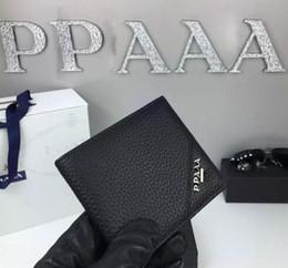 online shopping Best quality Male Genuine Leather luxury wallet Casual Short designer Card holder pocket Fashion Purse wallets for men
