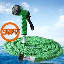 Wholesale- Green Expandable Car Garden Hose Pipe Plastic Spray Gun Made of Durable Latex Flexible And Easy To Handle And Storage Store cheap easy hose from easy hose suppliers