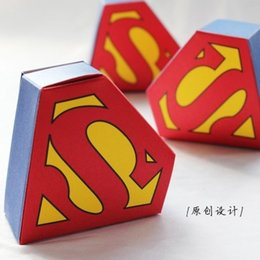 online shopping Superhero candy box for Superman Themed Kids Boys st First Birthday Children s Day Party Kids thanks gjft Decoration