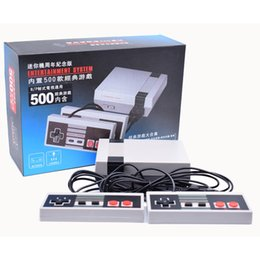 Retro Classic Game Player Family TV Consoles de jeux vidéo Childhood Built-in 500 Double handle control Pal Ntsc