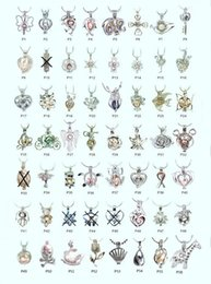 18kgp Fashion love wish pearl / gem beads locket cages, lovely DIY charm pendentif montures en gros 100pcs / lot (peut mélanger différents styles)