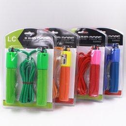 Wholesale Sporting Goods Emballage de cartes d aspiration Counting Rope Étudiants jeux de réflexion sauter corde équipement de fitness gros