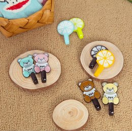 discount bear bathroom accessories hot sale home bathroom kitchen accessories self adhesive holder hanger cute fruit