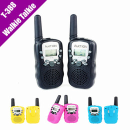 Новейшая марка AUKTION 2Pcs (пара) Walkie Talkie Travel T-388 0.5W UHF Auto Multi Channels 2-Way Radio Interphone 2pcs / set