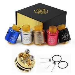 Discount petri rda Petri V4 Rda Clone Atomizer Electronic Cigarettes 24MM 2 Post With Extra Drip Tip Fit 510 Thread Vape Box Mod DHL free