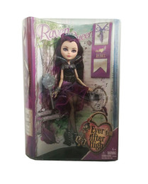 online shopping New Sale quot Ever After High Doll quot Girl Toy Raven Queen and Accessories Beautiful American Girls Dolls For Children Toys Gift Box jouet