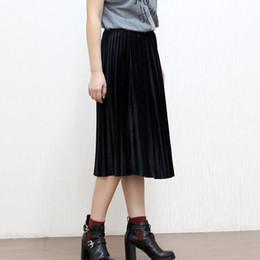 Plain Black Midi Skirt Online | Plain Black Midi Skirt for Sale