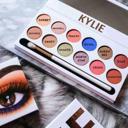 No estoque 2017 Kylie do tamanho cheio a paleta real do pêssego paleta real do pêssego Borgonha paleta da sombra Kylie Jenner Cosmetics frete grátis