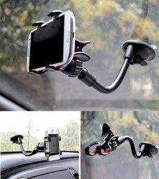 DHL Универсальный 360 градусов вращающейся длинной рукой лобового стекла мобильный телефон автомобиля держатель кронштейн держатель стенд для iPhone мобильный телефон GPS MP4 PDA
