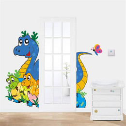 Qt 0138 Cute Baby Dinosaur Wall Sticker Children S Room Bedroom Living Room Wall Stickers Home Decor Stickers For Kids Rooms