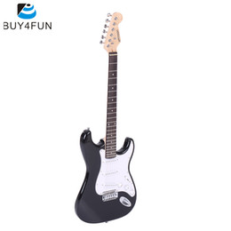 online shopping High Quality ammoon Full Size Electric Guitar Poplar Wood Body Rosewood Fingerboard with Gig Bag Strap Strings for Beginner