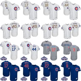 HOMMES / FEMME / Jeunesse 2017 Gold World Series Champions Chicago Cubs 17 Kris Bryant Javier Baez Anthony Rizzo Zobrist COOL BASE maillot de base-ball